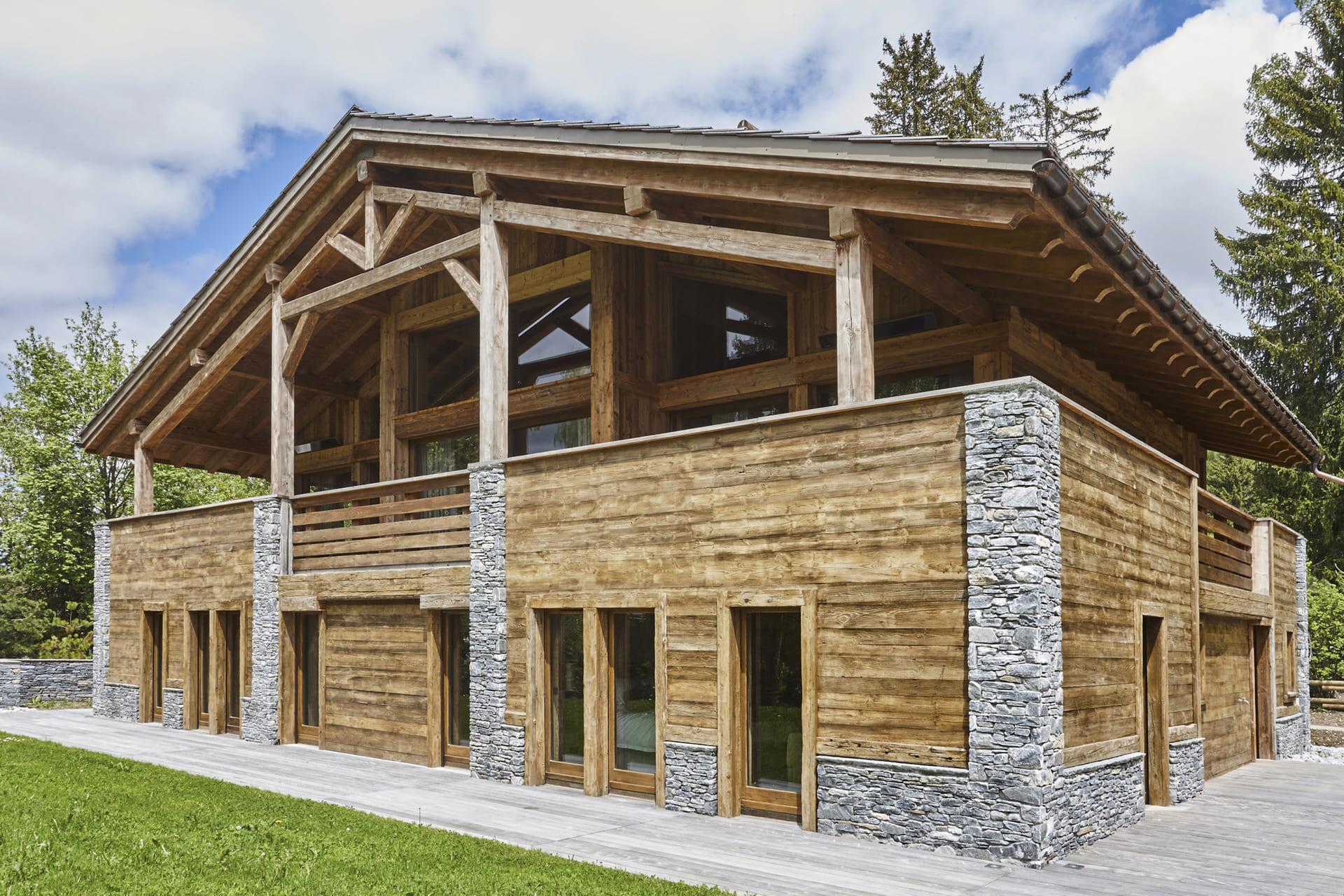Construction Chalet Megève Vieux bois les parcs du mont d'Arbois 1